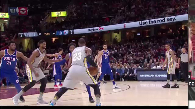 RT @gifdsports: LeBron James behind the back dribble between Tristan Thompson's legs HOW??????????????? https://t.co/m7HBBf94t8