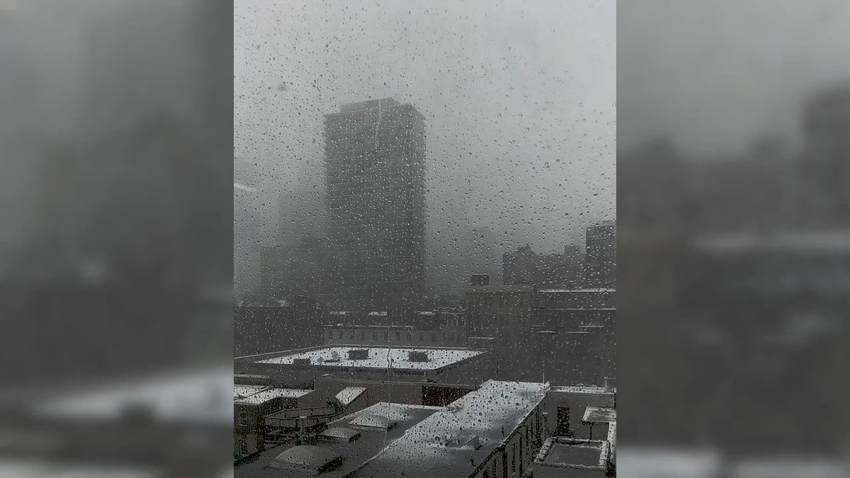 Beautiful views from Ticketleap HQ. We hope that everyone is safe at home and curled up with a pizza by now. #BombCyclone