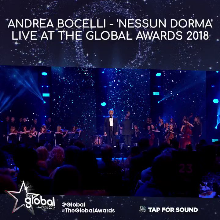 Simply breathtaking. @AndreaBocelli live at #TheGlobalAwards