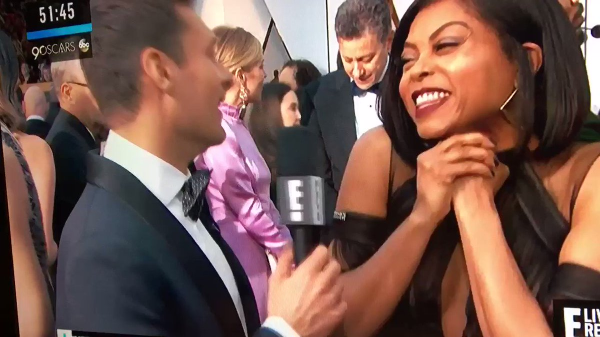 The rest of the Taraji P. Henson & Ryan Seacrest interview that people are acting like didn't happen #oscars https://t.co/FifHYePAL7