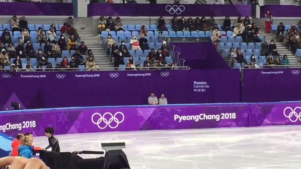 16th Feb.  practice  最後のジャンプ、ネイサンの曲に音ハメしているように見えたり… 何してもカッコイイなぁ♡  #YuzuruHanyu #Pyeongchang2018