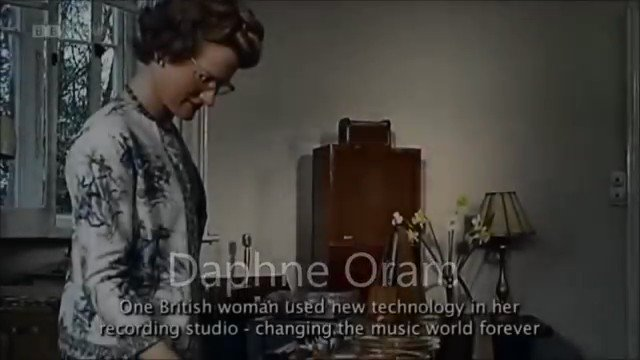 Daphne Oram, the godmother of electronic music.