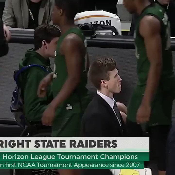 Wright State celebrates NCAA bid with teammate dealing with spinal cord injury