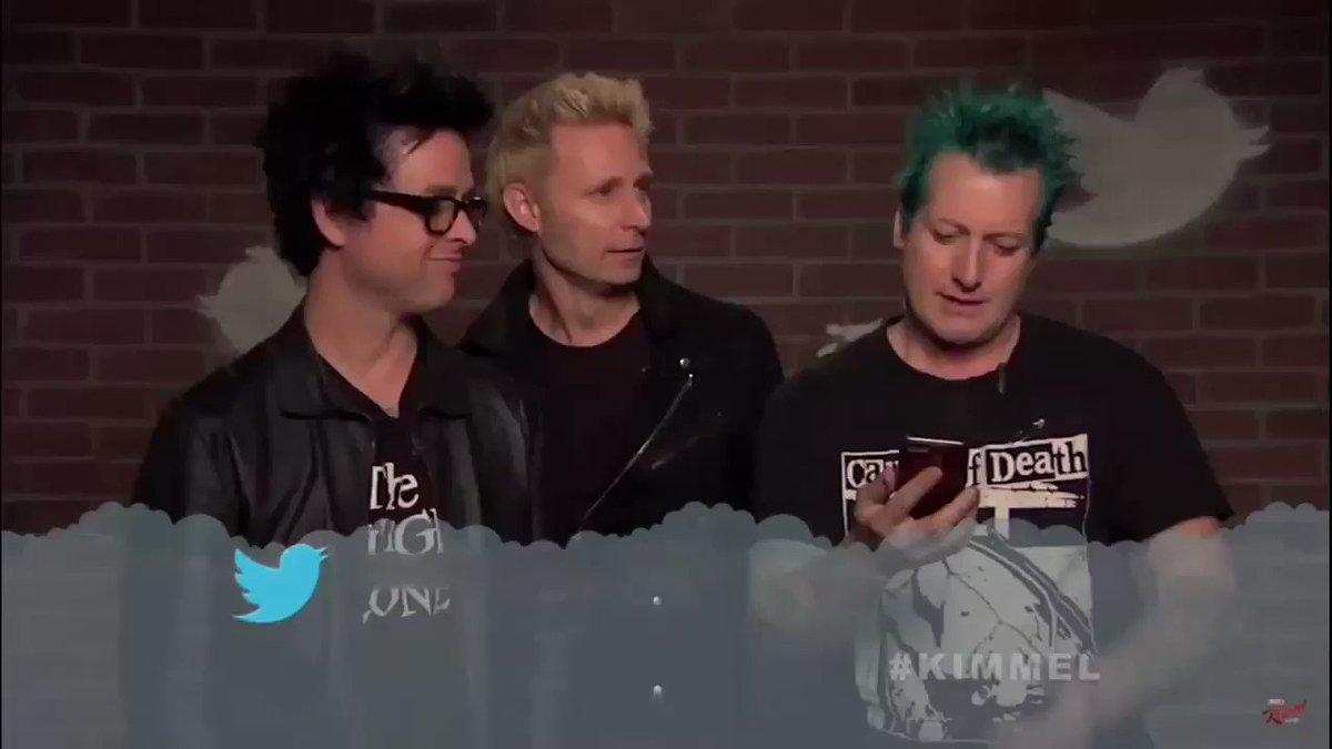 Green Day reading a mean tweet https://t...