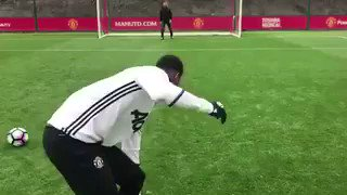 Lingard, Martial and Rashford take part in dizzy penalties 😂😂😂 #MUFC