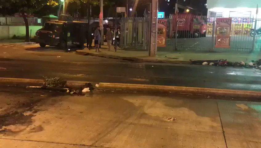 O 18°BPM atuou na região liberando as vias, após manifestação. O policiamento se encontra reforçado na Praça Seca.