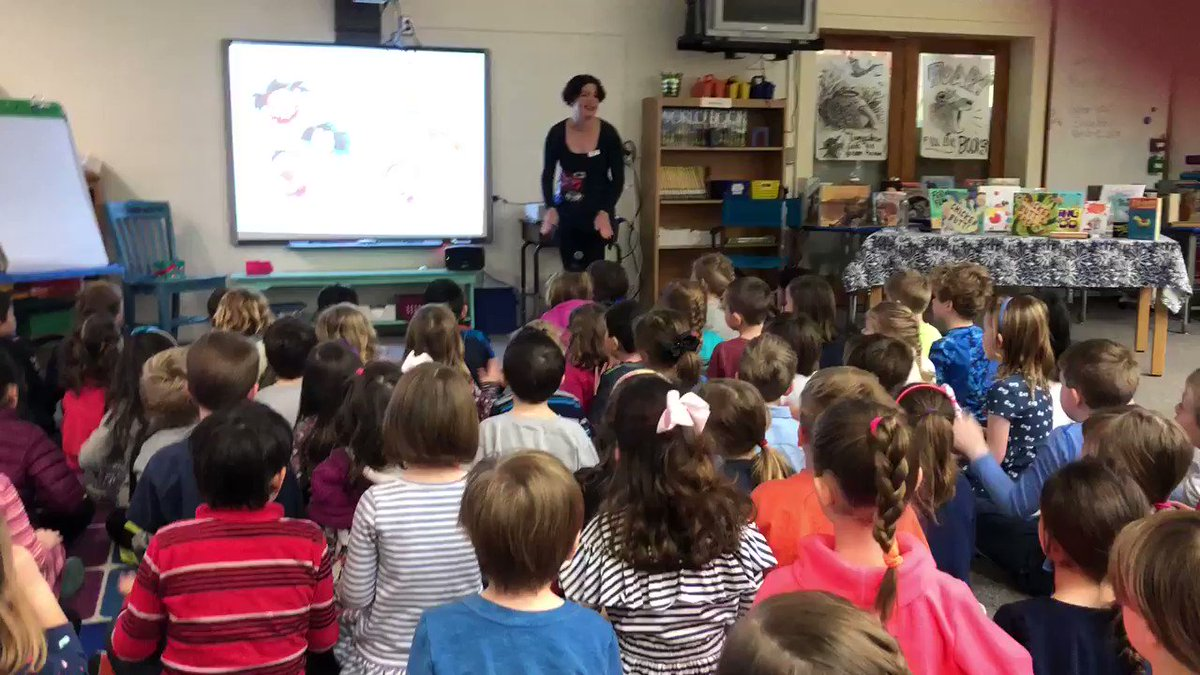"Students are enjoying listening to the story ""Ferocious Fluffity"" with visiting author Erica Perl <a target='_blank' href='http://twitter.com/ericaperl'>@ericaperl</a> <a target='_blank' href='http://twitter.com/JamestownReads'>@JamestownReads</a> <a target='_blank' href='https://t.co/DCf4FqKULK'>https://t.co/DCf4FqKULK</a>"