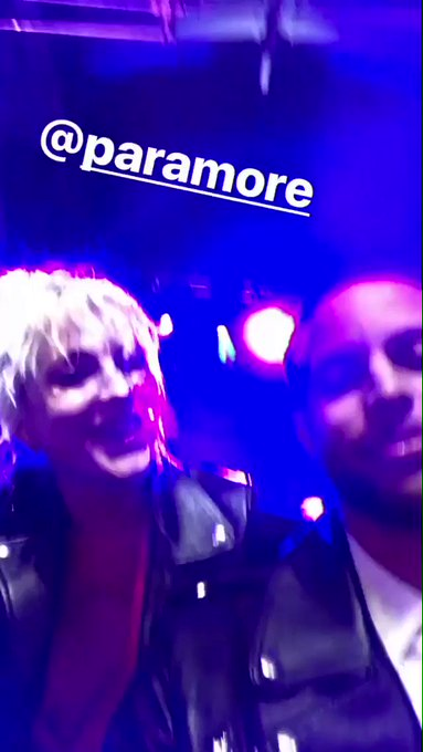 New video of Hayley Williams singing Happy Birthday to Stephen Curry