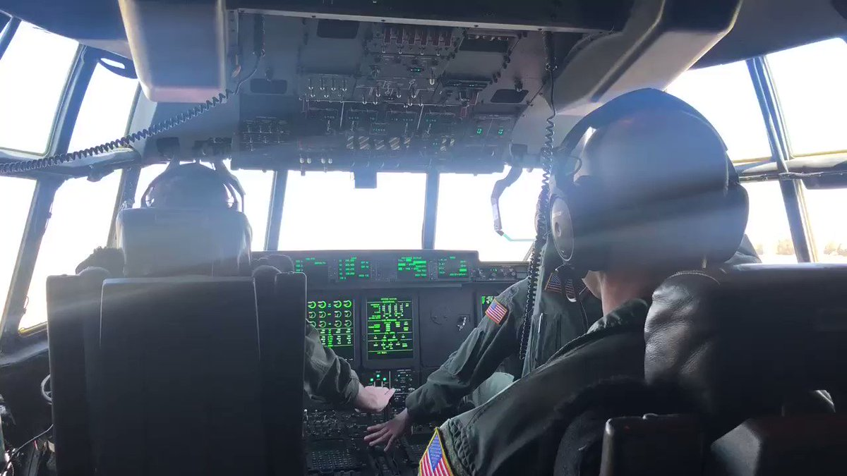 You see the C-130s flying above Arkansas...