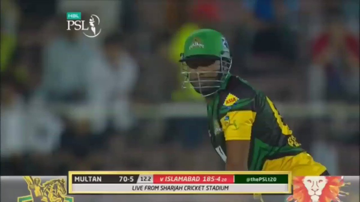 One-handed sixes by Kieron Pollard #PSL2...