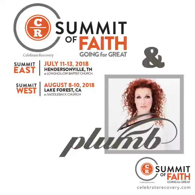 Give your Celebrate Recovery leaders a gift of refreshment in heartfelt worship. @plumbmusic opens this year's CR Summit of Faith in worship!  Can you imagine 3000 forever family shouting praises to our Father?! Visit https://t.co/l3ok5BBoZY for tickets before they sell out.
