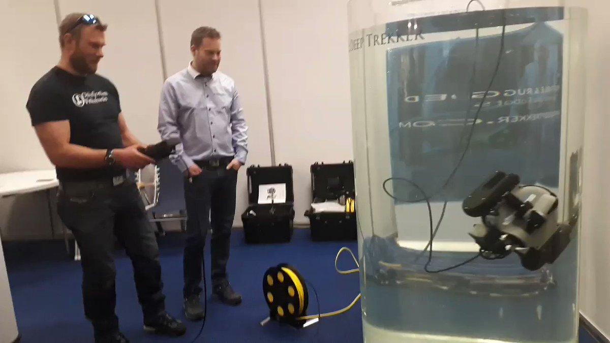 OF var idag på #sjøenforalle båtmesse på Lillestrøm for å teste og  motta ROVen vår. Vi takker  @rovpartner for god service. @deeptrekker ROVen kommer til å bli et nytt og viktig bidra i kampen mot maritim forsøpling samt masse andre spennende prosjekter.