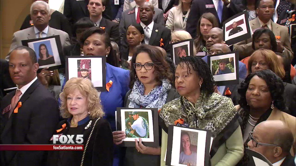 VIDEO: Today the Georgia House and Senate Democrats stood in solidarity with students participating in nationwide school walkouts, the 17 names of the students and teachers killed in Parkland, FL were read during the solemn show of support. #NationalWalkoutDay #gapol @FOX5Atlanta
