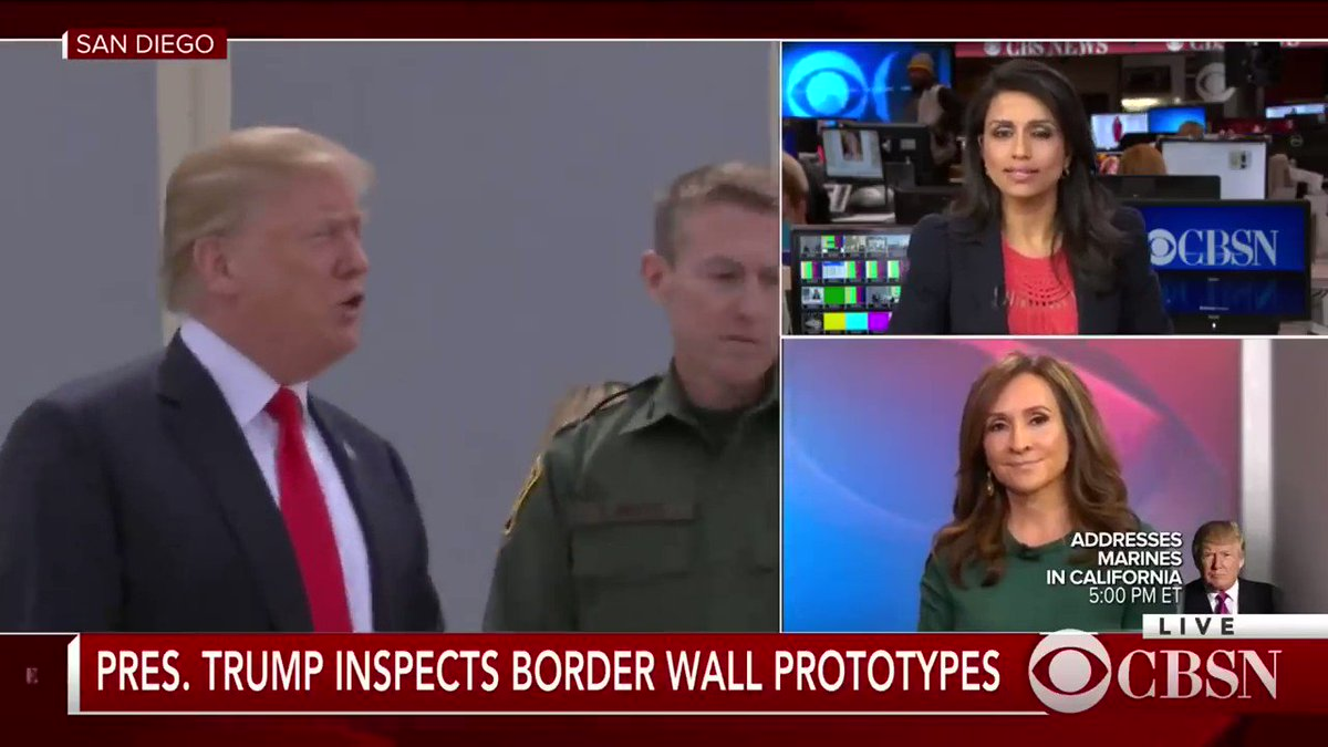 VIDEO: President Trump visited the 8 pro...