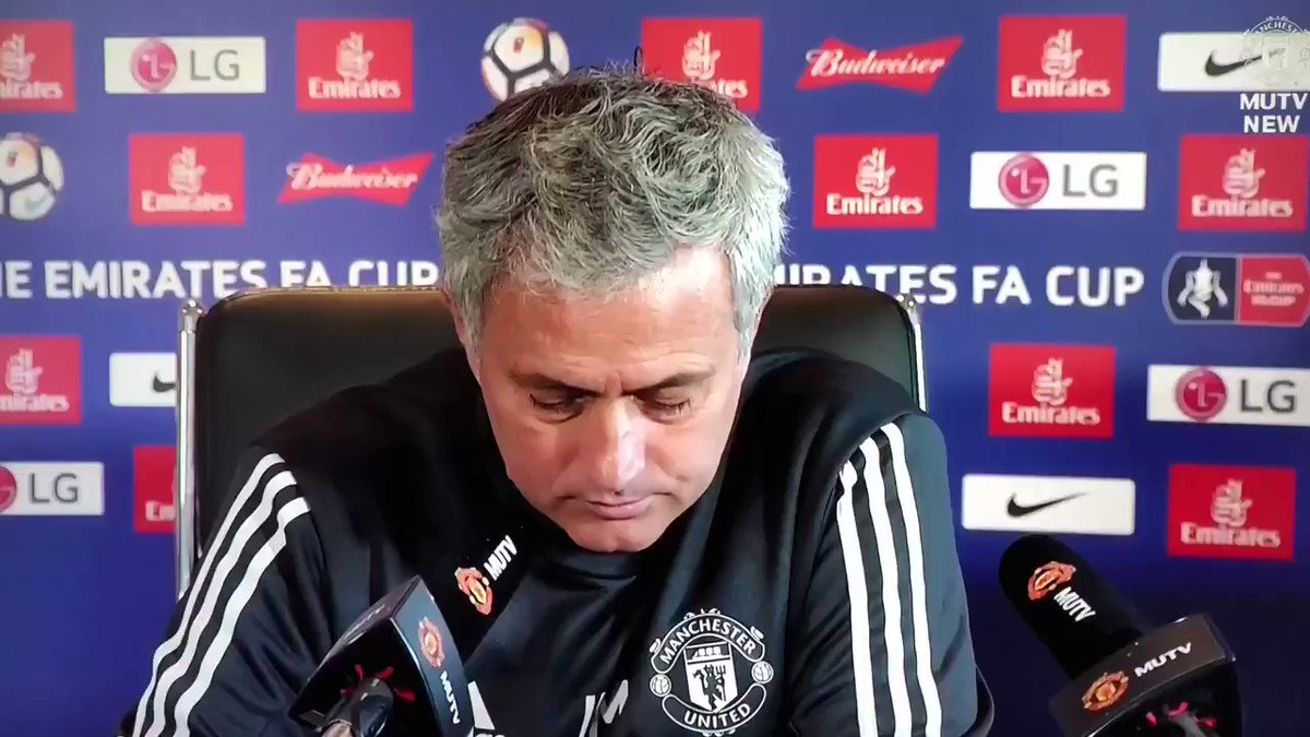 Na the Jose Mourinho press conference wey the whole world dey talk about 👏👏  #MUIP