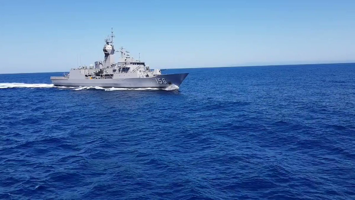 In transit with HMAS TOOWOOMBA. Wonderfu...