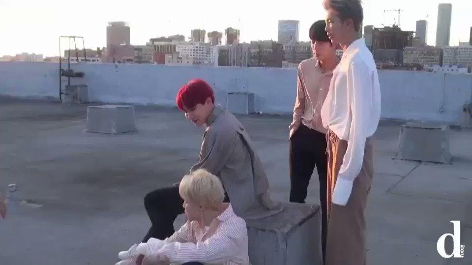 [디Q] RM, 진, 제이홉, 지민이 '유닛' 촬영중입니다.   그 사이...