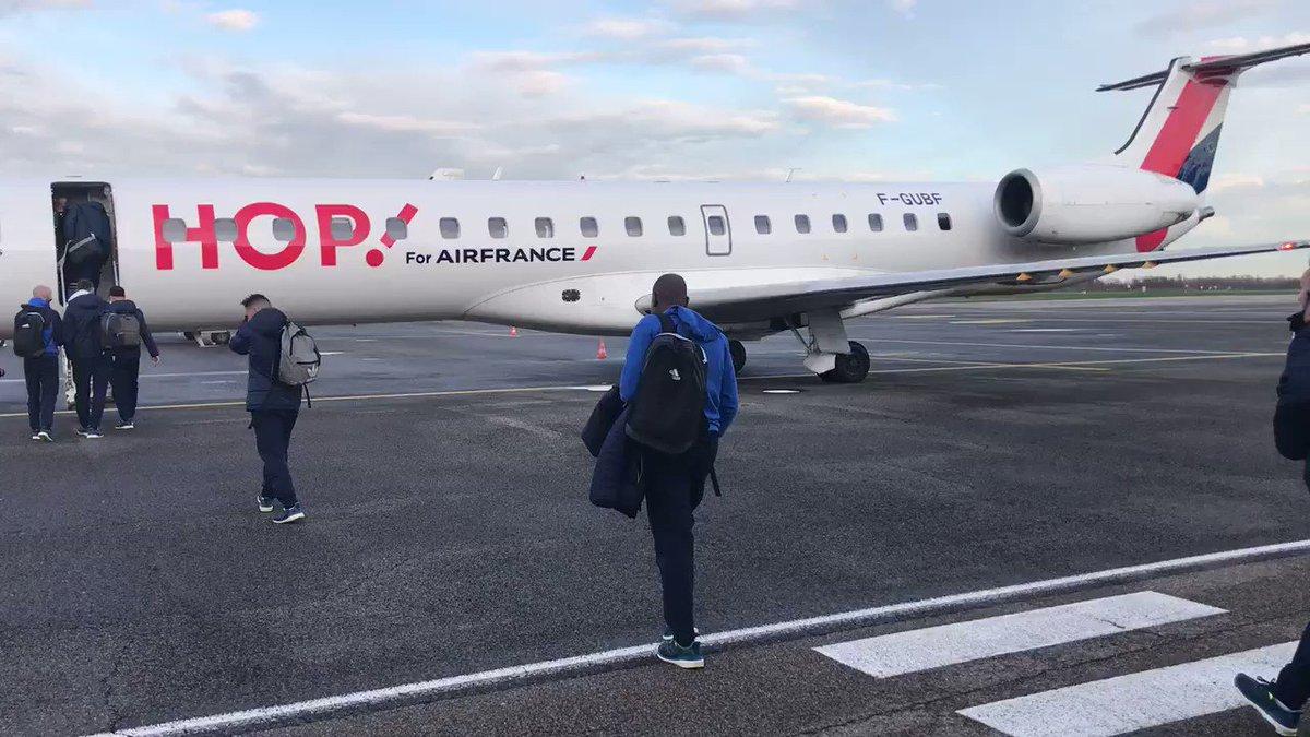 #OMOL Départ pour Marseille ✈️  🔴🔵 https...