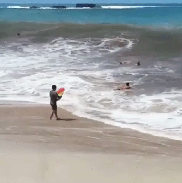 I'll just go body boarding, what could go wrong?