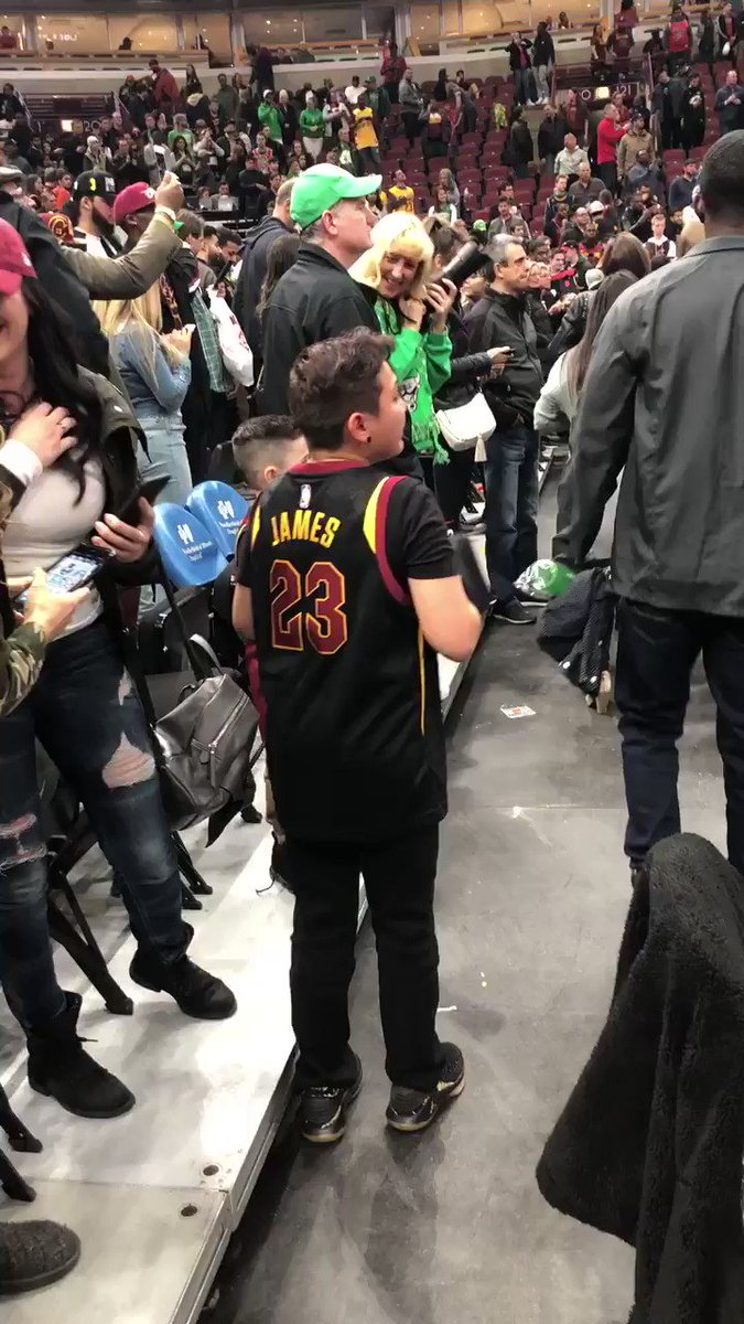 This young fan who got LeBron's arm slee...