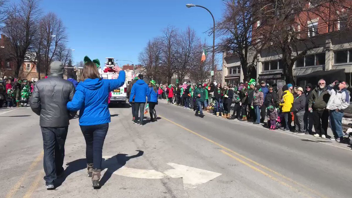 St. Patrick's Day Parade is underway! @n...