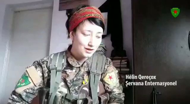 Our British comrade Hêlîn Qereçox (Anna Campbell) has become the symbol of all women after resising against fascism in #Afrin to create a free world. We promise to fulfill Şehîd Hêlîn's struggle and honour her memory in our fight for freedom.