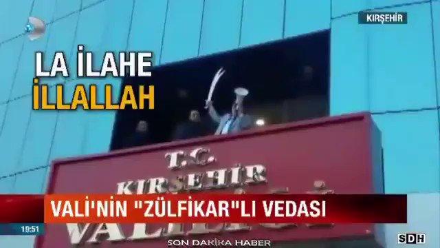 Zülfikar kılıcını kuşanan Kırşehir Valis...