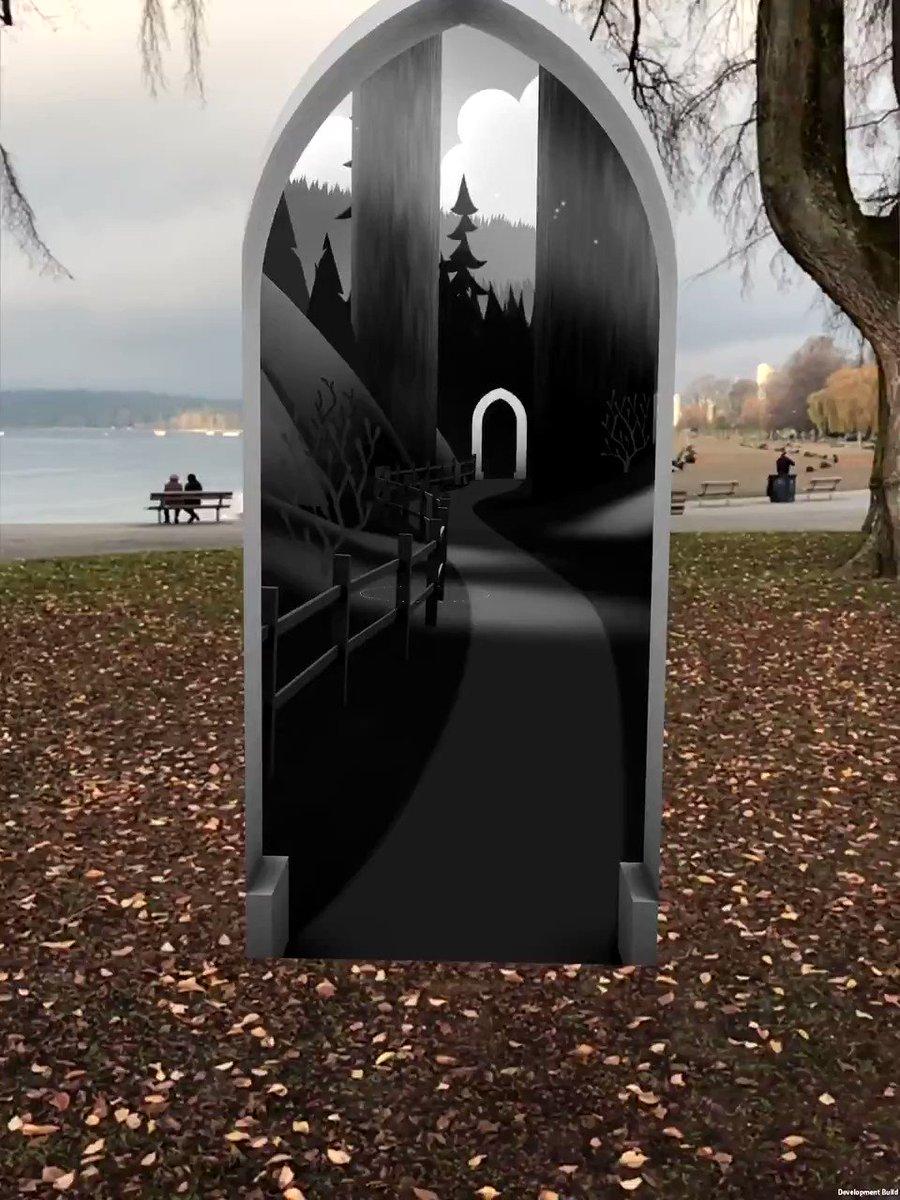 Гифка дверь в другой мир для изображения
