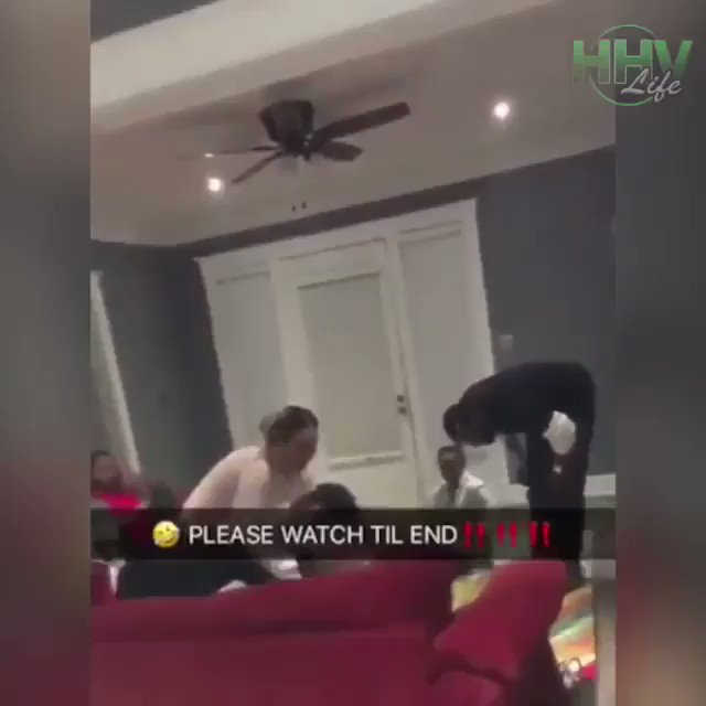 He tried to hold her hair so she could t...