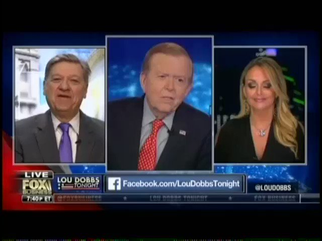 """Good freaking God  Guest on Fox Business' Lou Dobbs just criticized the Parkland kids for acting """"as if they are bulletproof"""""""