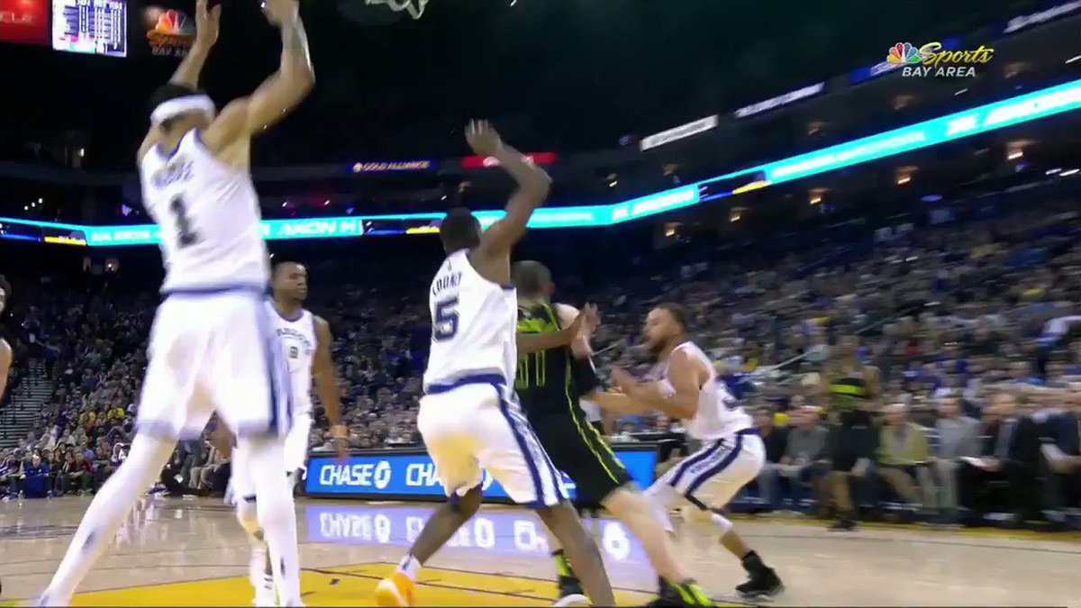 Steph Curry was visibly upset, and limped to the locker room after this apparent left leg injury.