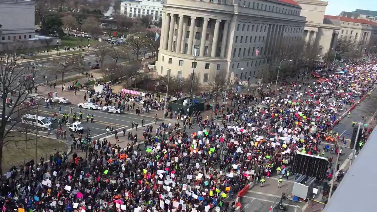 Crowd are HUGE #marchforourlives #MarchF...