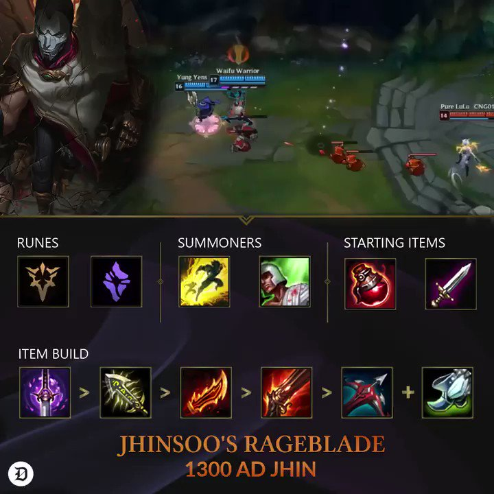 """Dot Esports on Twitter: """"Turns out the new RageBlade on Jhin is pretty  strong. #TheWinningEdge… """""""