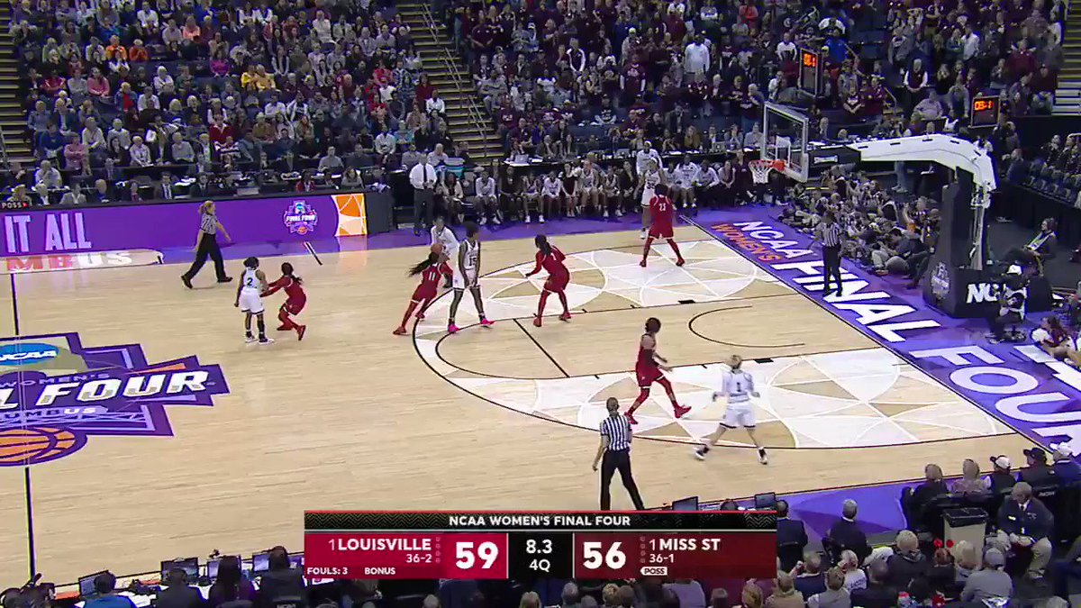 The shot that sent it to OT...  Louisville and Mississippi State are battling it out in the Final Four! https://t.co/vDCjlGzFAN