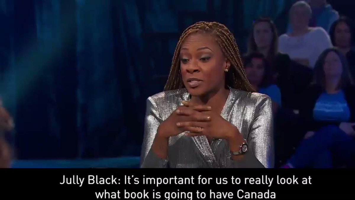 RT @AndrayDomise: Good morning everyone, especially @JullyBlack, who gathered up Jeanne Beker's colonizing ass with the force of a Jabari bark on national television.  Canada READS.