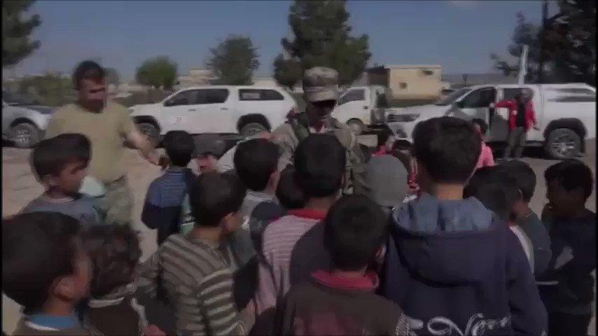 Afrin ve Cenderis'te huzur ve mutluluk hakim... Halka yardımlar devam ediyor.