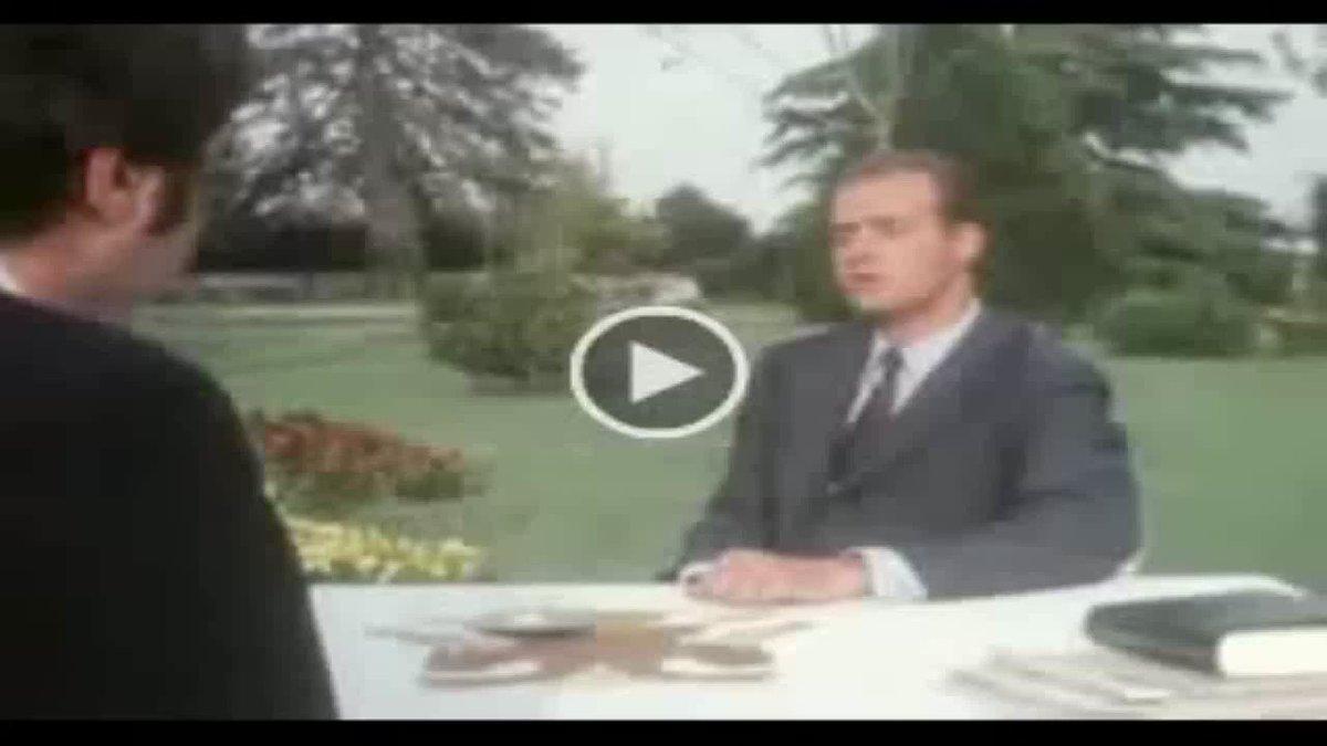 Aquí Juan Carlos I explicando lo que el dictador genocida Franciso Franco significa para él... https://t.co/jKeTlND4Gv  #LaFuturaRepública ❤️💛💜