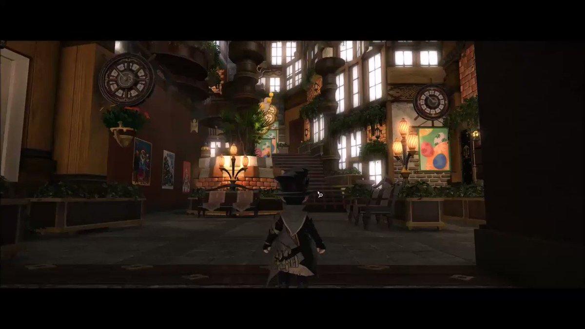 シロガネLハウス  RPGに出てきそうな街  内装動画  #FF14ハウジング