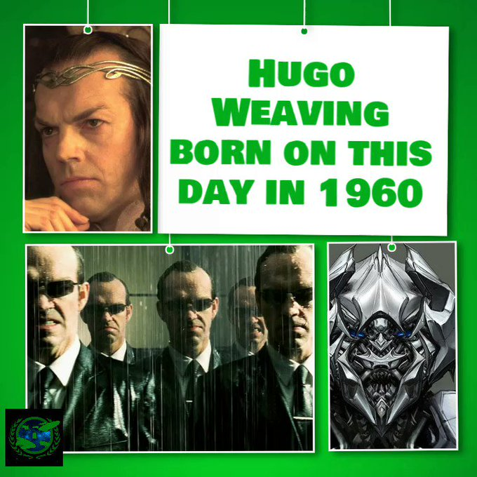 Happy birthday to Hugo Weaving, born on this day in 1960.