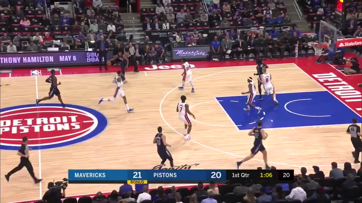 HB hit em with the behind the back, up fake, and then the spin! ��️ #DALatDET https://t.co/vUcGZTA7kL