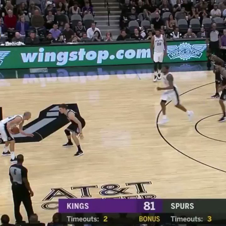 Manu got San Antonio on its feet! �� https://t.co/pTjOSNE9NG