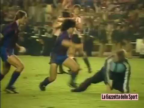 Never forget when Diego Maradona was throwing knees in the middle of a brawl during a match. Legend.