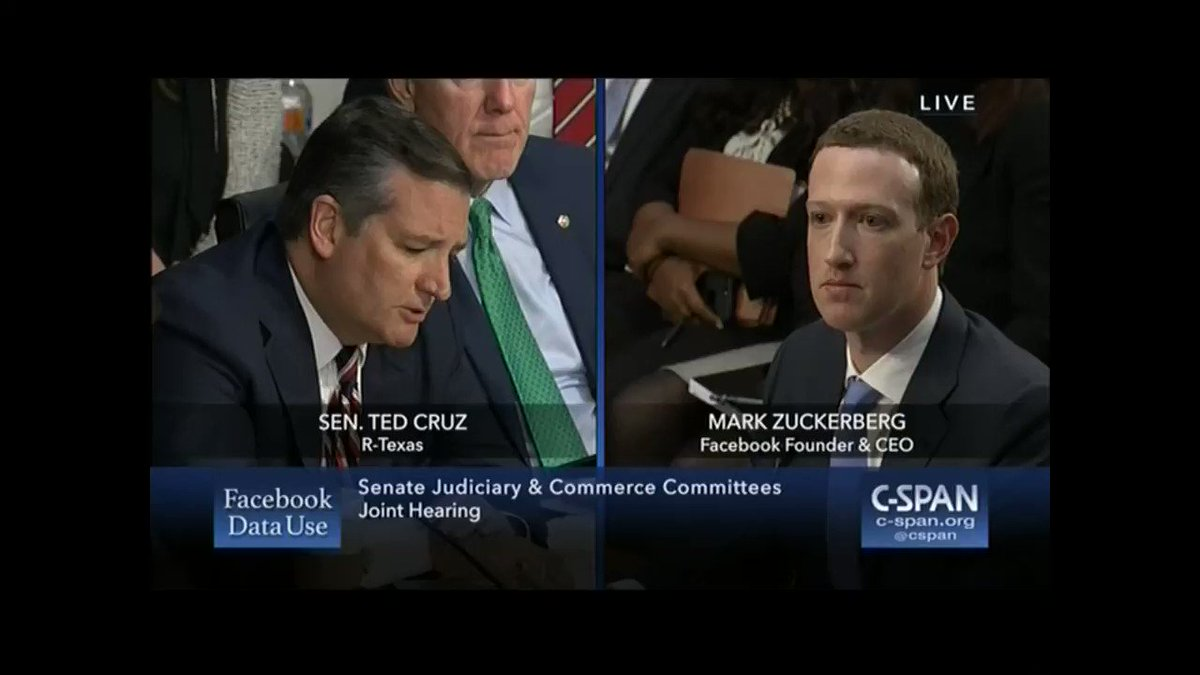 Today I questioned Facebook CEO Mark Zuckerberg about Facebook's past censorship of conservative groups. I asked if the same actions had ever been taken against liberal groups, but did not get an answer.