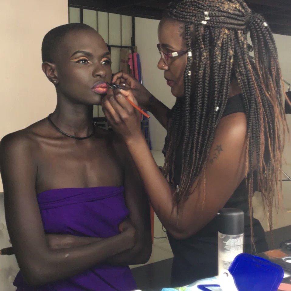 Ajuma Nasenyana  - session Had twitter @ajumanasenyana makeup
