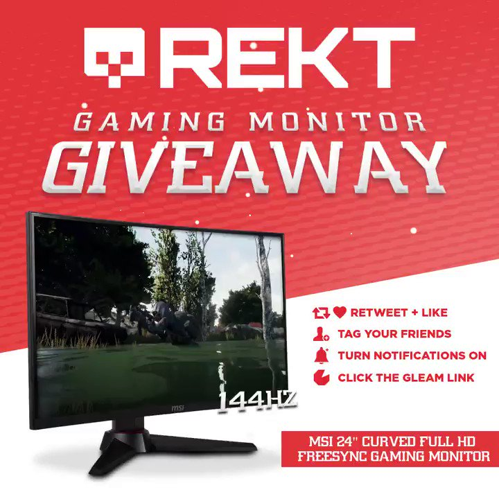 💥New site, 💥new features, 💥new Monitor! Enter our giveaway below: MSI Curved 144Hz #Gaming Monitor #Giveaway -Tag Your Friends - Retweet, Like & Follow @Officially_REKT - Click Here To Enter: vast.mx/RMCMGA
