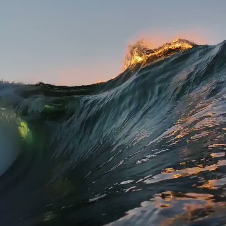 this is what it looks like underneath a wave