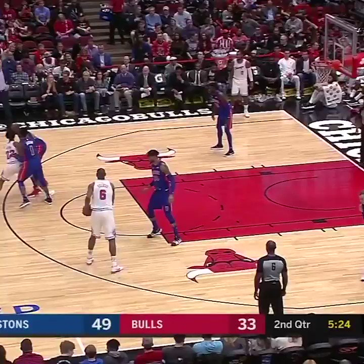The only thing better than Markkanen's dunk? Robin Lopez's reaction to it �� https://t.co/XGfP1baFPW