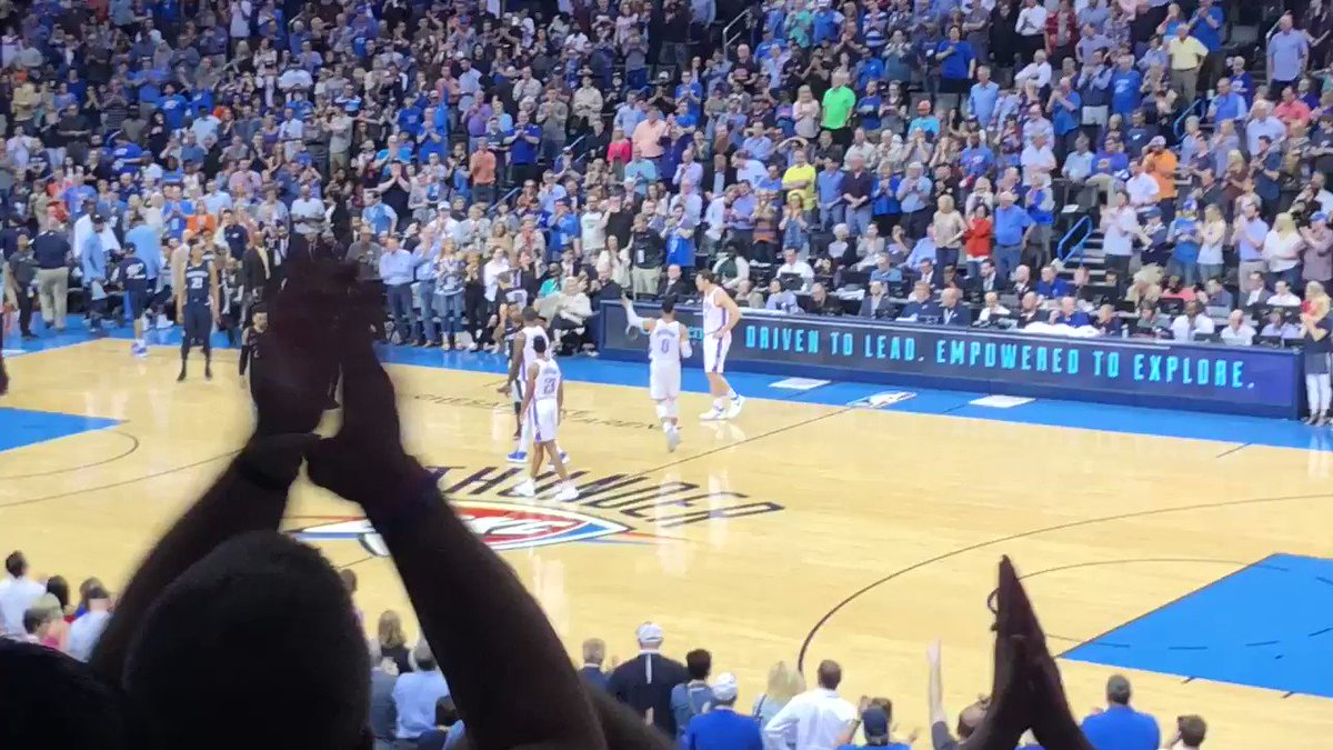 Standing O in Loud City for @nickcollison4 checking into his 1001st career game. https://t.co/fsKkhQRhz9