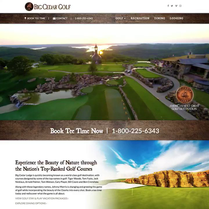Our new website is officially LIVE! Check it out here: golfbigcedar.com
