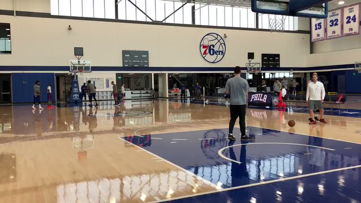 Active gym as first practice of post-season ends.